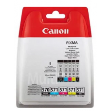 Canon 0372C004 (PGI-570 CLI 571) Ink cartridge multi pack 15ml + 4x7ml Pack qty 5