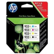 HP C2P42AE (932XL / 933XL) INK CARTRIDGE MULTI PACK 1000 PG + 3X825PG PACK QTY 4